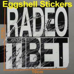 UV resistant sun proof eggshell stickers
