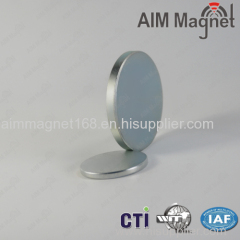 N35 NdFeB disc magnet with zn coating