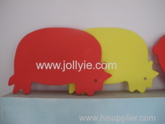 CREATIVE LOVELY ANIMAL SHAPED PLASTIC CUTTING BOARD