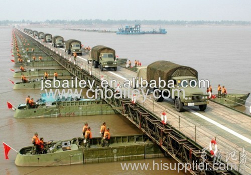 Bailey Steel Floating Bridge