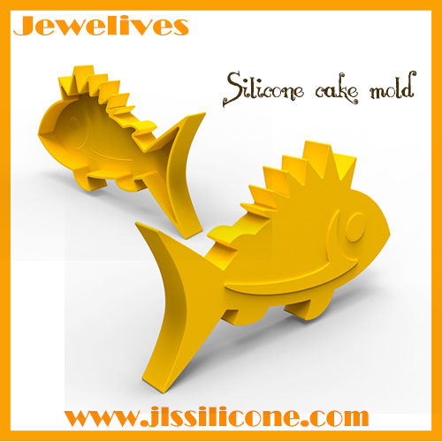 silicone cake mold fish shape china supplier