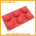 flowers shape of silicone cake pan with 6 caves