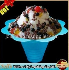 disposable plastic coloful snow cone flower cups