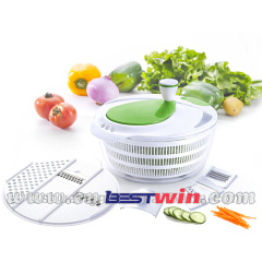 Salad cutter and salad mixer