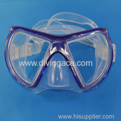 Low volume scuba diving mask/swimming goggles