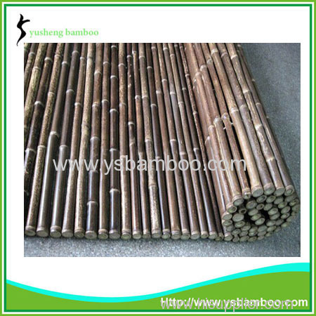 Renewable sources black bamboo fence