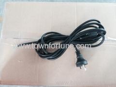 Australian plug with round earth pin power cord