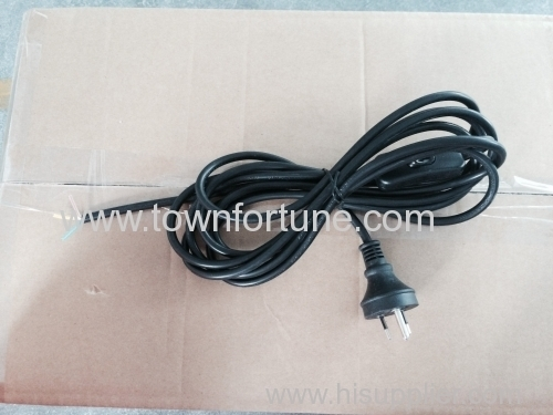 Australian plug with round earth pin power cord