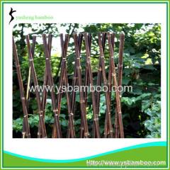 Expandable Folding Size Natural Black Bamboo Fence