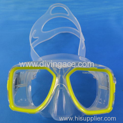 Hot selling wholesale rubber freediving mask for water sports