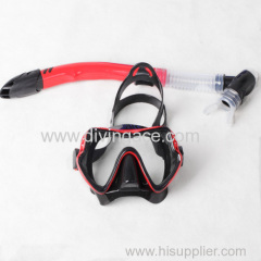 Low volume wholesale diving mask/swimming glasses snorkel set