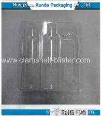 Plastic clamshell insert tray