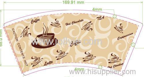 Hot drink paper cup fan