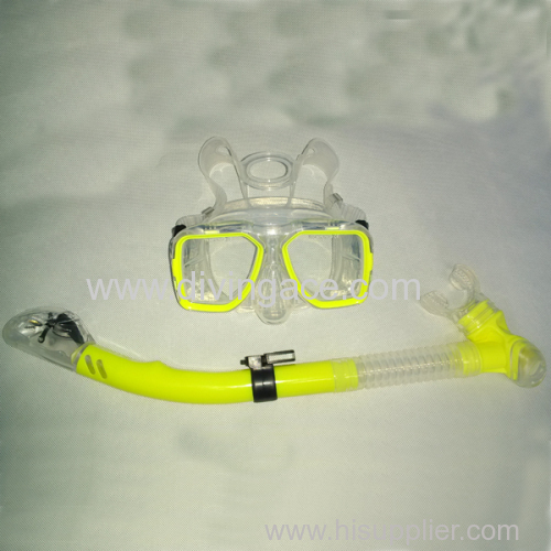 OEM manufacturer diving glasses and snorkel set