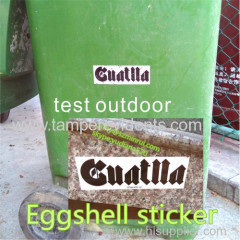 high quality permanent vinyl eggshell sticker