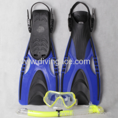 Professional diving goggles snorkel and fins three set for adult