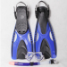 New silicone diving mask snorkel and fins set