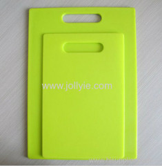 COLORFUL FASHION PLASTIC CHOPPING BOARD SET
