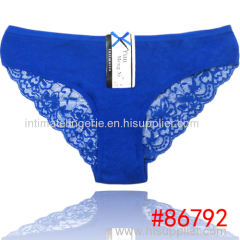 2014 New pretty laced lady bikini panties lady brief stretched cotton short pants
