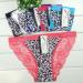 2014 New leopard laced cotton bikini panties lady brief stretch cotton short pants women underwear