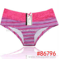 2014 New laced cotton boyleg panties lady brief stretch cotton short pants knickers women underwear