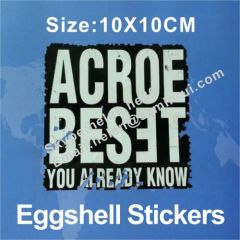 permanent sticky eggshell label sticker for graffiti
