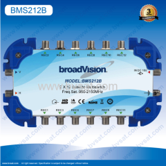 Low insertion losshigh isolation and return loss cscadeble 2/12 satellite multiswitch in one satellite dish