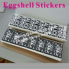excellent permenent eggshell sticker hard to scrub