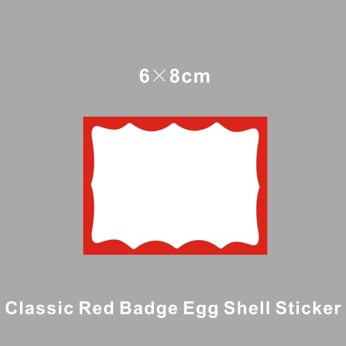 Writable Blank With Blue Borders Eggshell Stickers From