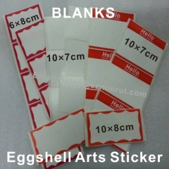 graffiti writer red borders egg shell sticker