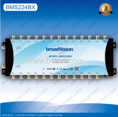 metal housing stand-alone satellite multiswitch 2/24 in broadcasting