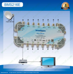 2inputs16 outputs satellite multiswitch in broadcasting