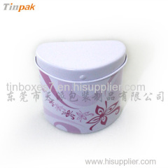 small irregulare shape tin box for candy