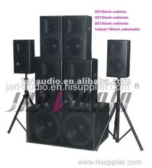 wooden combo passive speaker including 10inch 12inch 15inch 18inch