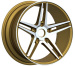 Alloy Wheels shinny yellow with machine face