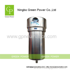 Stainless steel compressed gas filter