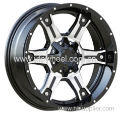 Alloy Wheels Black Machine Face with black big cap