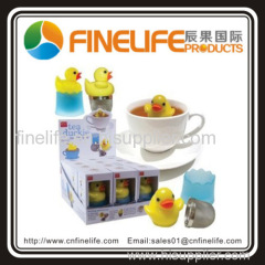 food grade plastic and stainless steel mesh Floating duck mesh tea infuser