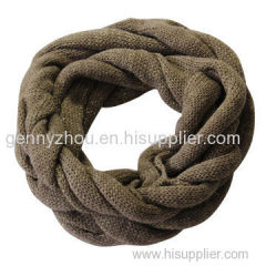 Knitted loop scarf for this winter