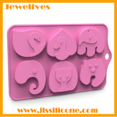 New product Silicone cake mold different cute animals shape