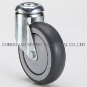 Light duty casters with bolt hole fitting,wheel with thermoplastic rubber tread