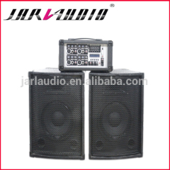 hot sales combo speaker with passive wooden speakers and 4 channel cabinet mixer