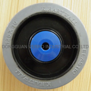 Wheels with solid rubber tyres,with synthetic rim