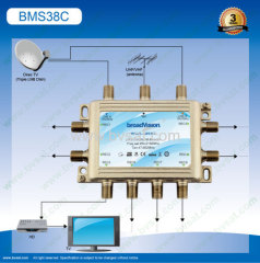 Sheet metal+plastic stand-alone satellite multiswitch 3/8 in small project