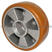 Wheels with thermoplastic polyurethane tread, with aluminum wheel center