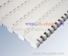 Flat top A24 closed surface modular conveyor belt for Food applications