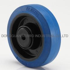 Industrial trolley elastic rubber caster wheels