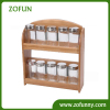 Bamboo spice rack for kitchen