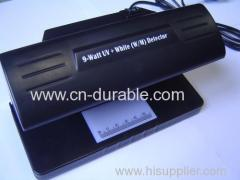 9w uv counterfeit money detector white 4w with ruler