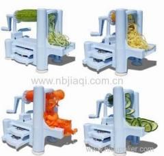 Plastic Spiral Vegetable Slicer 3 in 1 Manual Vegetable Slicer Fruit Slicer Machine